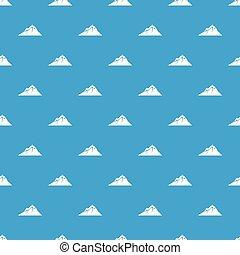 mountains, mönster, vektor, seamless, blå