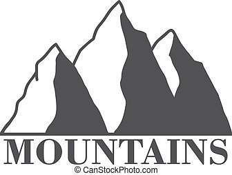Mountains - mountains abstract illustration, label with type...