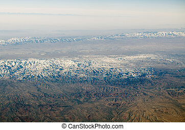 Mountains near Mashhad, Iran - Aerial view of the mountain...
