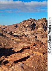 Mountains of Petra in Jordan