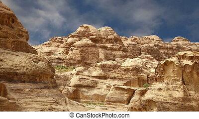 Mountains of Petra, Jordan, Middle East. Petra has been a...