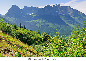 mountains of the Glacier National Park