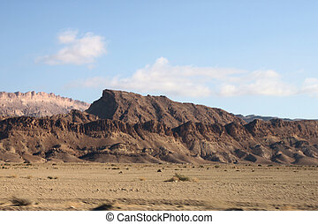 Mountains of the rocky desert of Tozeur