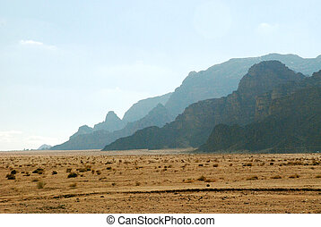 mountains of Wadi Rum