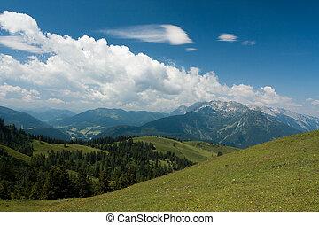 Mountains on sky