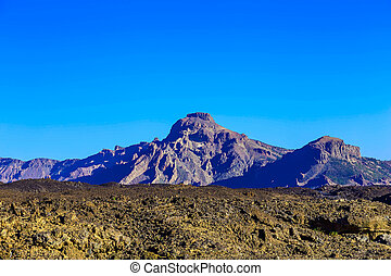 Mountains landscape on Tenerife island in Spain at Day
