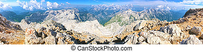 Mountains Panorama in a Sunny Summer Day
