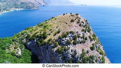 mountains panorama of amalfi coast in Italy - mountains...