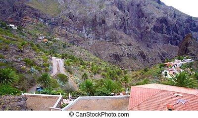 mountains panorama of Masca village area at Tenerife island