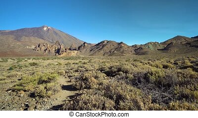 mountains panorama of Teide vulcano area at Tenerife