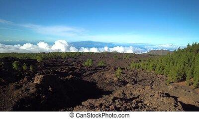 mountains panorama of Teide vulcano area at Tenerife