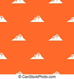 Mountains pattern vector orange