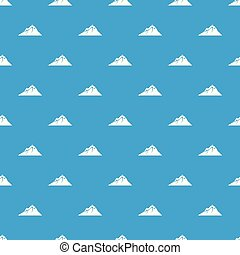 Mountains pattern vector seamless blue
