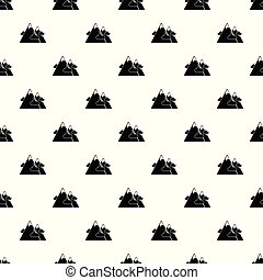 Mountains pattern vector seamless