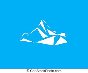 Mountains peak logo