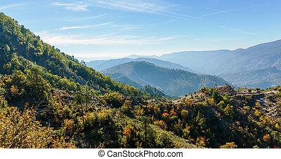 Mountains Provence Alpes Cote d'Azur, France.