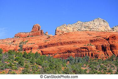 mountains, röd rock