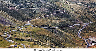 Mountains roads - Roads in Central Pyrenees mountains close...