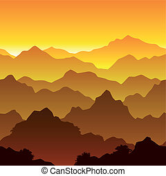 Mountains - Seamless vector illustration