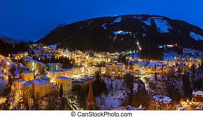 Mountains ski resort Bad Gastein Austria - architecture and nature background