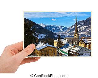 Bad Gastein Austria photography in hand