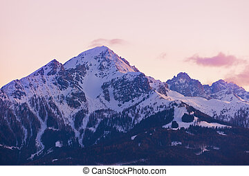 Mountains ski resort Innsbruck Austria