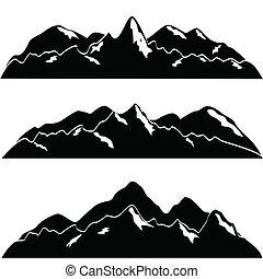 mountains, snö