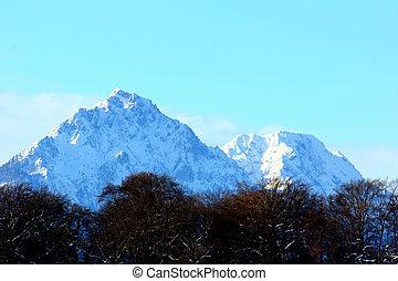 Mountains surrounding Salzburg, Austria
