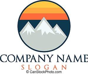 Mountains vector logo.