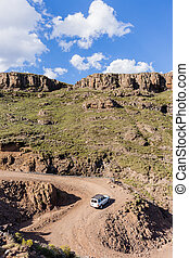 Mountains Vehicle Rugged Terrain - Mountains dirt road up ...