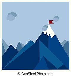 Mountains with clouds design vector