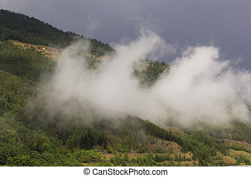 Mountains with fog-2