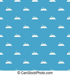 Mountains with snow pattern seamless blue