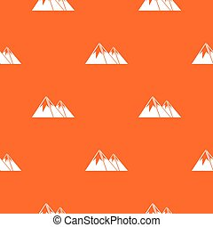Mountains with snow pattern seamless