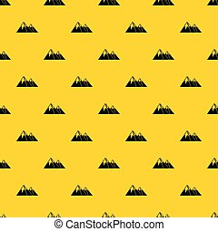 Mountains with snow pattern vector