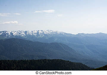 mountains with snow top