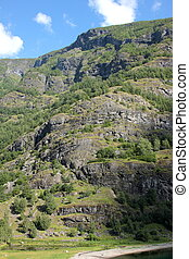 mountainside in Norway in the spring