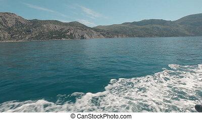 Mountainside near Balaklava with yachts, Cape Aya Russia...