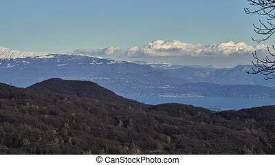 mountan landscape in winter
