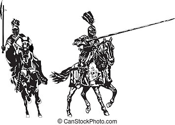 knights - mounted knights