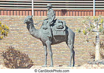 Mounted Police Camel Memorial in Upington, Northern Cape...
