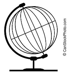 Mounted Wireb Globe On Rotating Swivel - A wire or line...