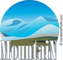 mountine, icon., ベクトル, illustration.