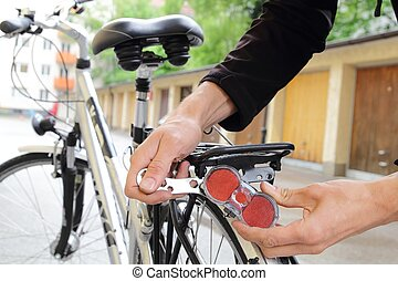 Mounting a bicycle rear light