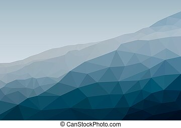 Mounting landscape in polygonal style. Vector illustration
