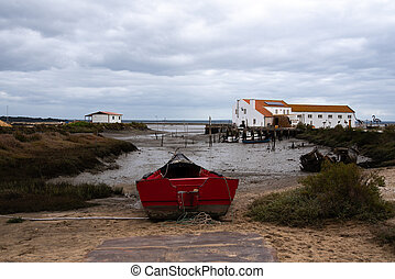 Mourisca Mill in Sado estuary Setubal Portugal