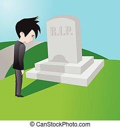 Mourning man