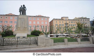 mourning statue Bastia Corsica - statue to mourning war dead...