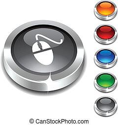 Mouse 3d button set. Vector illustration. .