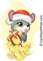 mouse and gift